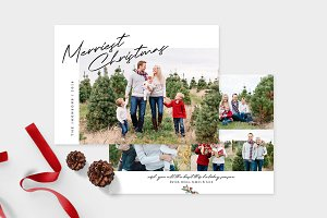 Christmas Photo Card Template -CD100