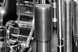 Metallic shafts and metal ring.