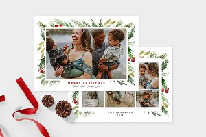 Christmas Photo Card Template -CD101