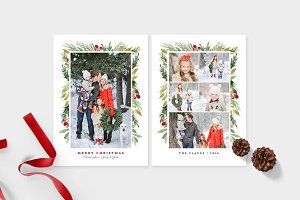 Christmas Photo Card Template -CD102