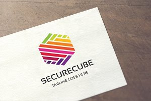 Secure Cube - Letter S Logo
