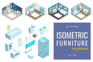 Isometric furniture for bathroom
