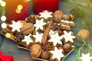 Christmas decoration cinnamon cookie