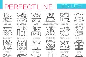 Beauty spa cosmetic concept icons