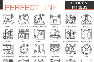 Sport & fitness concept icons