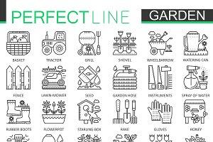 Gardening garden concept icons