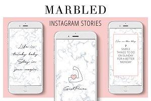 Marbled Instagram Stories