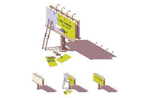 Vector isometric billboard