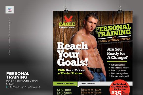 personal training flyer vol 04 flyer templates creative market