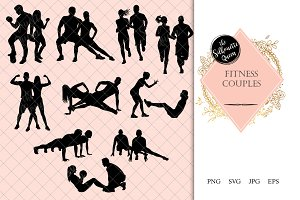 Fitness Couple Silhouette