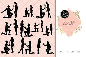 Couple Engaged Silhouette