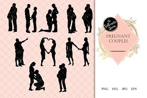 Pregnant Couple Silhouette