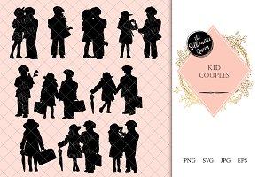 Kid Couple Silhouette