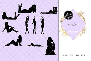 Fit Woman Silhouette |Sensual female