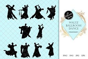 Waltz Ballroom Dance Silhouette