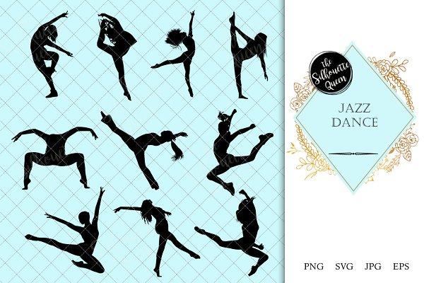 Jazz Dance Silhouette Vector Pre Designed Illustrator Graphics Creative Market