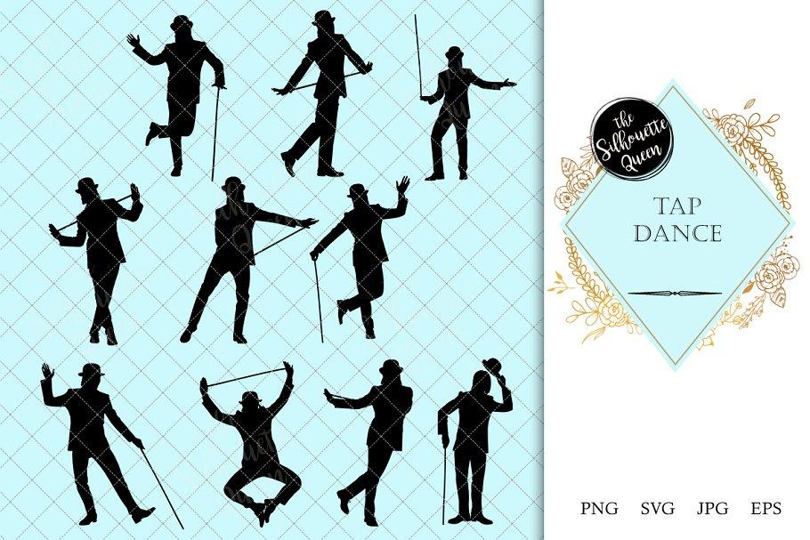 Tap Dancer Dance Silhouette Vector Pre Designed Illustrator Graphics Creative Market