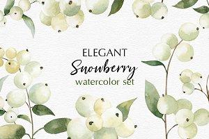 Watercolor Snowberry set
