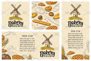 Poster seamless pattern bakery