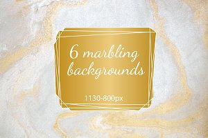 Marbling handdrawn backgrounds