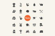 Farm & Agriculture Pictograms Sets