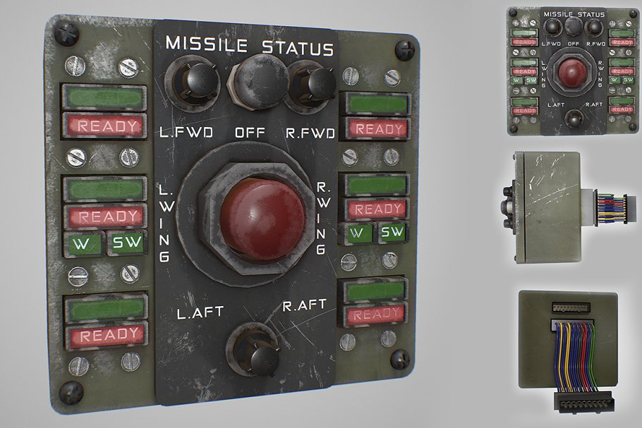 Missile Control Panel in Electronics