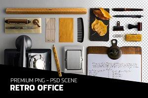 Retro office - PSD scene