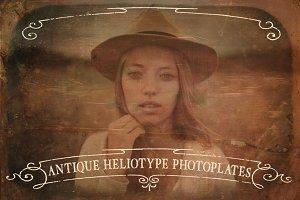 Antique Heliotype Photoplates