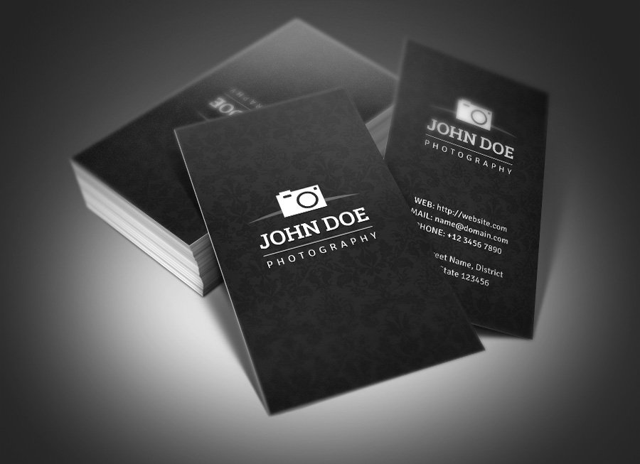 Photography business card business card templates creative market flashek Images