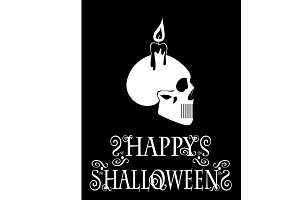 Happy Halloween skull icon