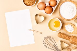 ingredients for cooking, baking