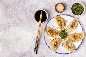 Gyoza or dumplings snack