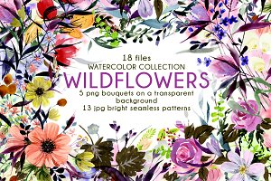 WILDFLOWERS - Watercolor Collection