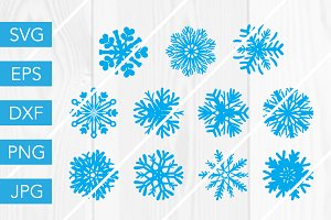 Snowflake SVG Bundle