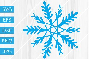 Snowflake SVG for Silhouette