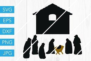 Nativity Scene SVG Cut File
