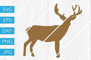 Deer SVG Cut File Christmas SVG