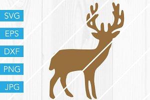 Deer Silhouette SVG Cut File