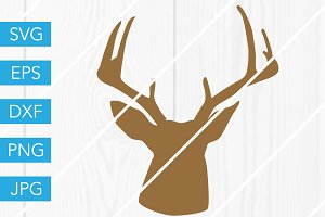 Deer Head SVG Cut File
