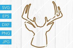 Deer Head Outline SVG