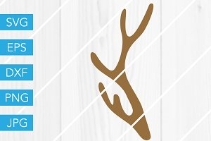 Deer Antler SVG Cut File