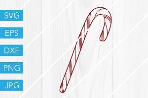 Candy Cane SVG Cutting File