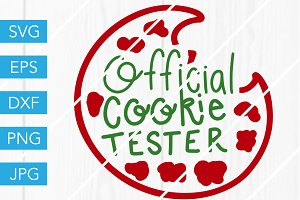 Official Cookie Tester SVG Cut File