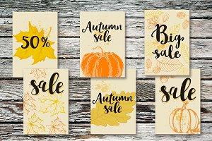 Autumn Seasonal Sale Tags