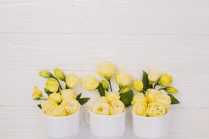 Flower bouquets with design space