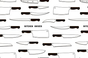 Kitchen knife weapon steel pattern