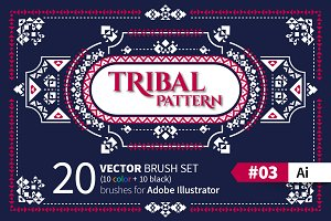Tribal Pattern Brush #03