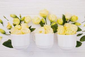 Beautiful white flowets bouquet