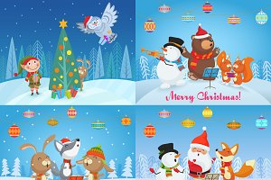 Christmas singing animals cards