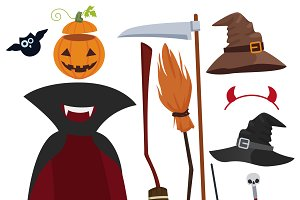Halloween magic equipment set